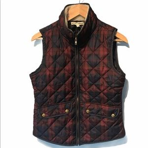 Telluride Clothing Co. Plaid quilted vest Small